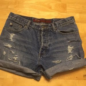 Vintage distressed high waisted shorts